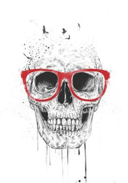 Skull with Red Glasses by Balazs Solti
