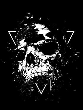 Skull X (BW) by Balazs Solti