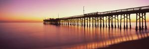 Balboa Pier at sunset, Newport Beach, Orange County, California, USA