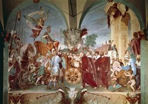 Cosimo I Entering Siena, 1636 by Baldassare Franceschini