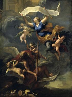 The Glory of Louis XIV - Triumph of Time, 17th Century by Baldassare Franceschini