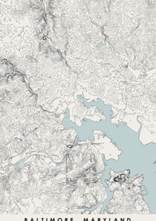 Balitimore Topographical Print