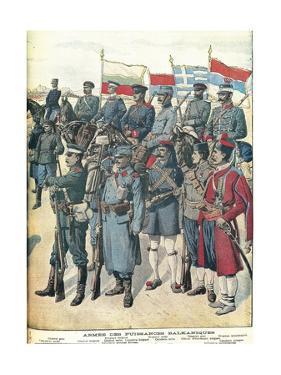 Balkan Wars - Balkan Army Uniforms from Petit Journal, 1912