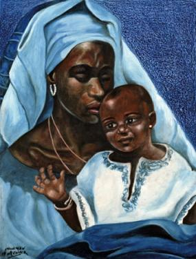 Black Madonna and Child by Ballenger