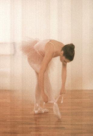 Ballerina Ballet Tie Shoes Art Print Poster Dance Prima