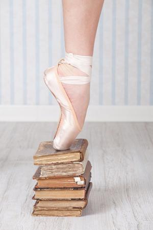 Ballerina Pointe on Old Books