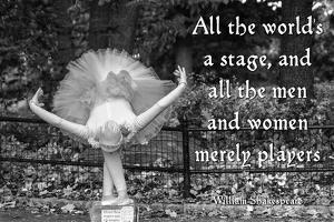Ballerina Street Performer in Central Park, NYC with William Shakespeare Quote