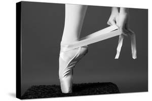 Ballerina Tying up Point Shoes