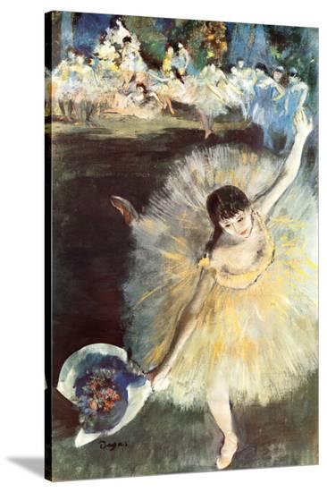 Ballerina-Edgar Degas-Stretched Canvas Print