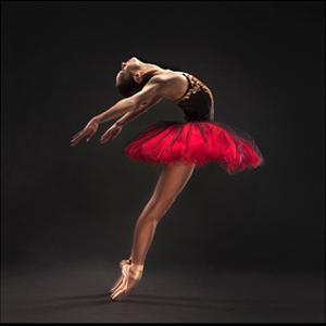 Ballet Dancer Red Tutu