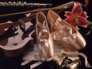 Ballet Shoes, Violin, Flute, and Flower