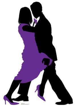 Ballroom Dancers Silhouette