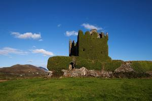 Ballycarberry Castle, Built Circa 16th Century, Near Caherciveen, Ring of Kerry, County Kerry