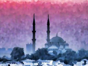 Watercolor Istanbul by Baloncici