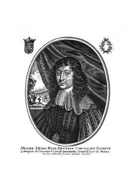 Marquis de Cinq Mars by Balthasar Moncornet