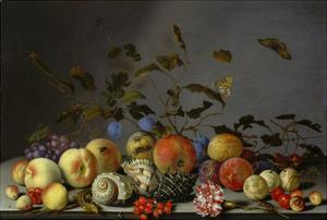 Still Life with Fruits by Balthasar van der Ast