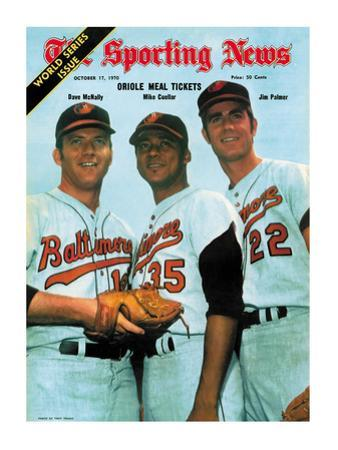 Baltimore Orioles Dave McNally, Mike Cuellar and Jim Palmer - October 17, 1970