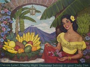 Bananas Belong in Your Diet Food Marketing Poster, Ca 1950s