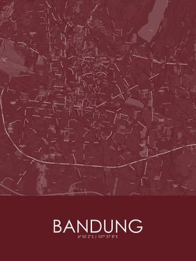 Bandung, Indonesia Red Map