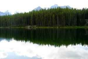 Banff Lake Landscape Photo Print Poster