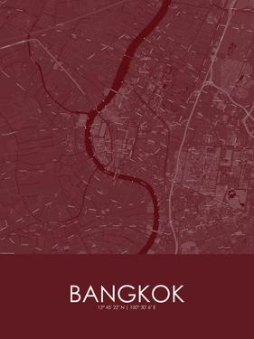 Bangkok, Thailand Red Map