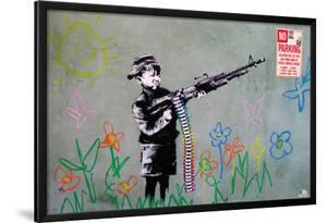 Banksy- Crayon Shooter by Banksy