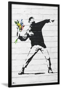 Banksy- Rage, Flower Thrower by Banksy
