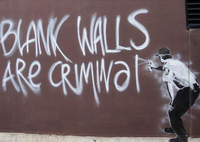 Blank Walls Are Criminal by Banksy