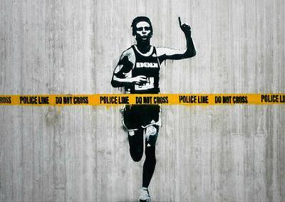 Do not cross by Banksy