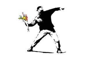 Flower Chucker by Banksy
