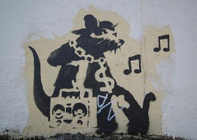 Ghetto Blaster Rat by Banksy