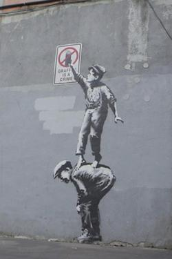 Graffiti Is a Crime by Banksy