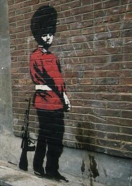 Pissing Soldier by Banksy