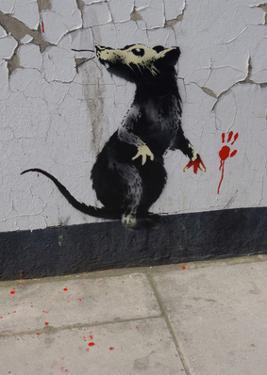 Red handed by Banksy