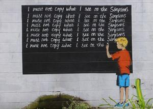 Simpsons by Banksy