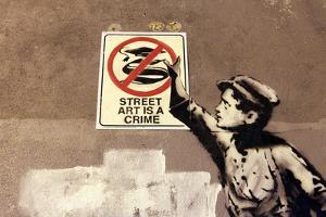 Street Art is a Crime by Banksy