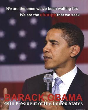Barack Obama 44th President Art Print Poster