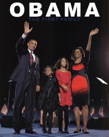 Barack Obama and First Family Art Print Poster