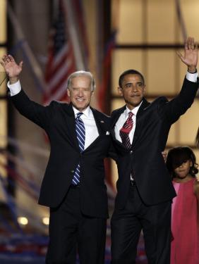 Barack Obama and Joe Biden at the Democratic National Convention 2008, Denver, CO