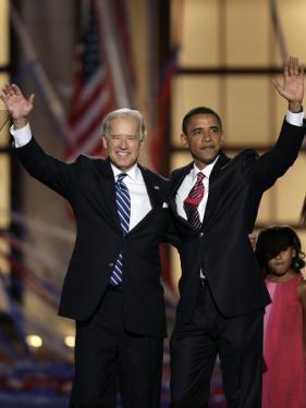 Barack Obama and Joe Biden at the Democratic National Convention 2008, Denver, CO