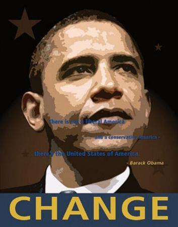 Barack Obama (Change) Art Poster Print