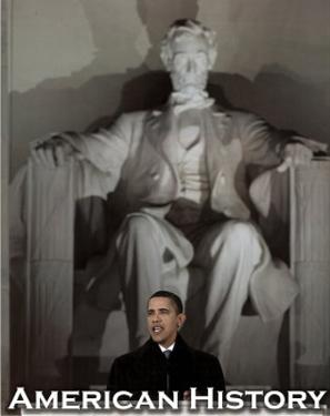 Barack Obama in Front of Lincoln Memorial Art Print Poster