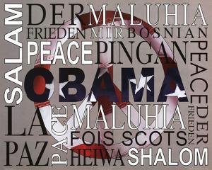 Barack Obama Peace Art Print Poster