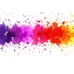Watercolor Blot Abstract by barbaliss