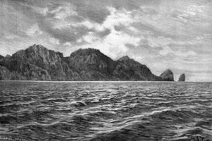 Cape Pillar, Tasman Peninsula, 1895 by Barbant
