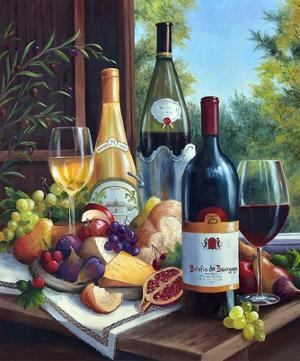 Still Life with Wines by Barbara Felisky