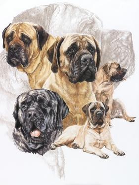 Bull Mastiff with Ghost by Barbara Keith