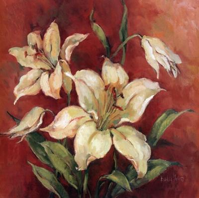 Crimson Lilies I by Barbara Mock