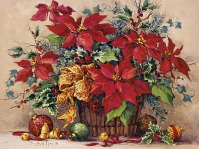 Festive Poinsettia Basket by Barbara Mock