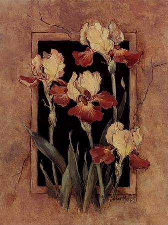 Framed Iris by Barbara Mock